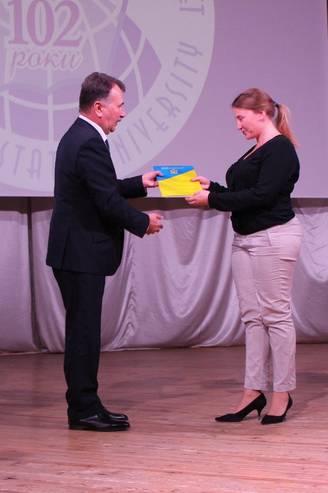 Володимир Миколаєнко нагородив кращих працівників Херсонського державного університету