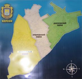 Інтерактивна карта міста Херсон