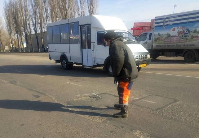 Городское дорожное управление отремонтировало дорогу в Днепровском районе