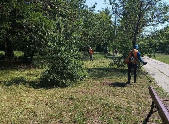 У Херсоні продовжують косити зелені зони